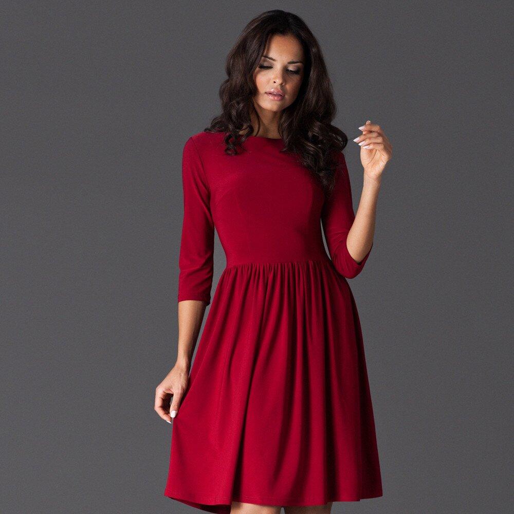 1fef1061e558 Dámske červené šaty ku kolenám Figl