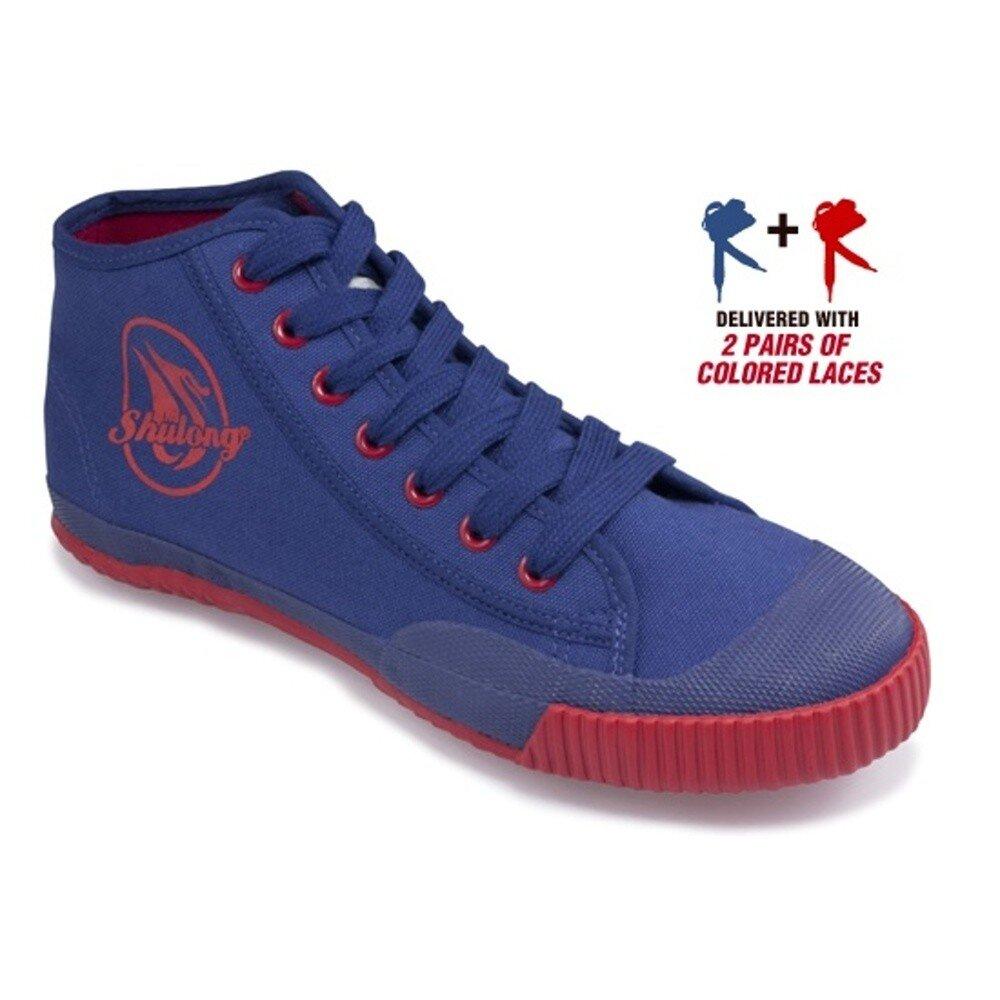Pánske modré tenisky s červenou podrážkou Shulong  69b764df385