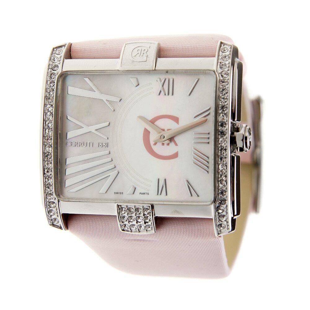 Dámske hodinky Cerruti 1881 s ružovým pásikom a kryštálmi  cb1c306f6b9