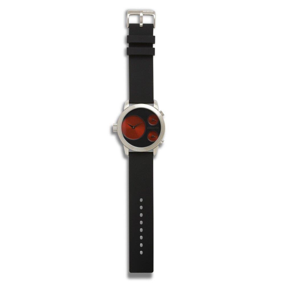ac2e52d21 Dámske čierne hodinky s gumovým remienkom 666 Barcelona s červenými kruhmi    Zlavomat.sk