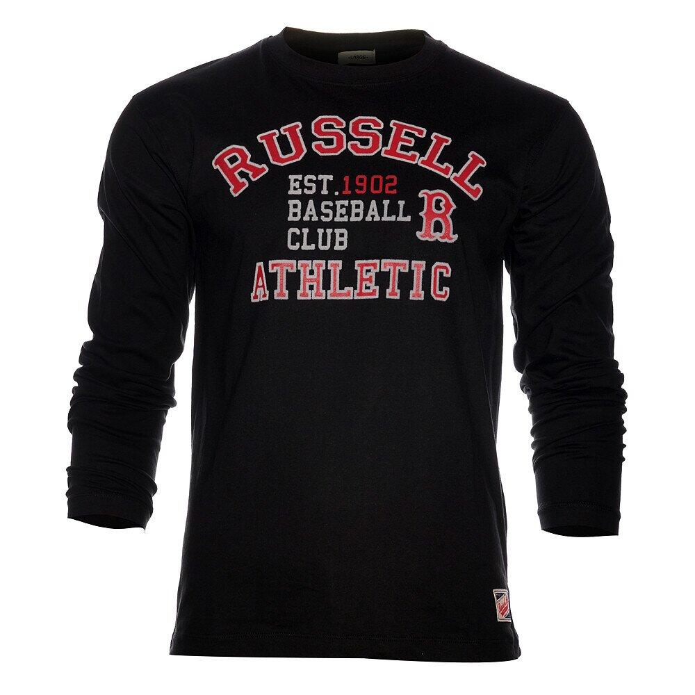 035b5fd16a21 Pánske čierne tričko Russell Athletic s potlačou