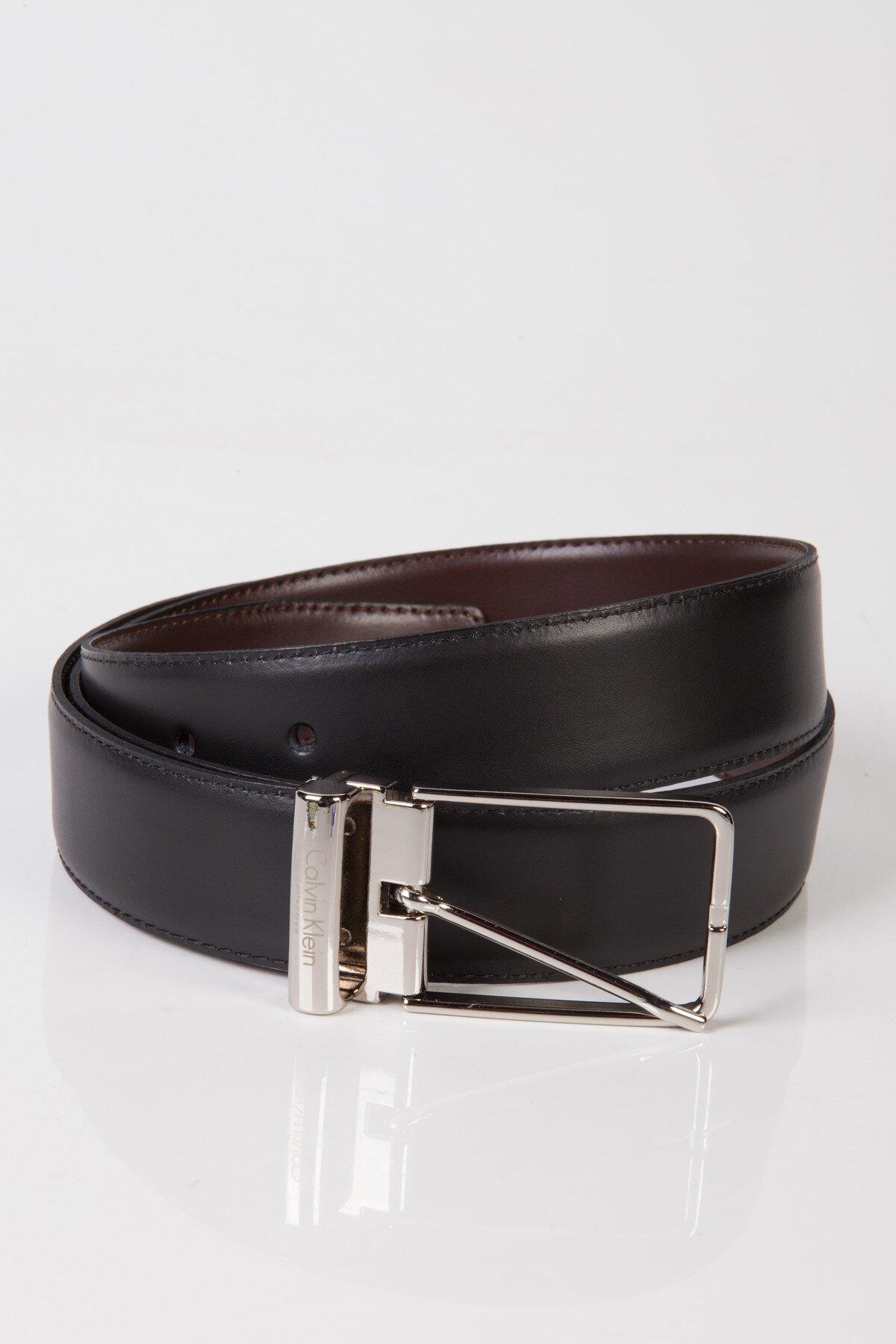 6b34d96c8 Dámsky čierno-hnedý obojstranný kožený opasok Calvin Klein | Zlavomat.sk