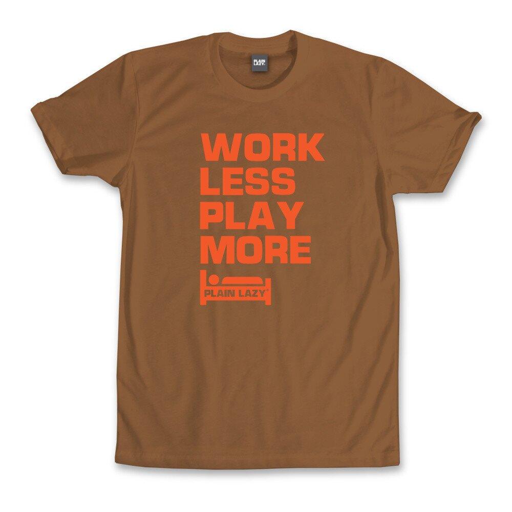 80673c72f13c Pánske gaštanovo hnedé tričko s vtipnou potlačou Plain Lazy ...