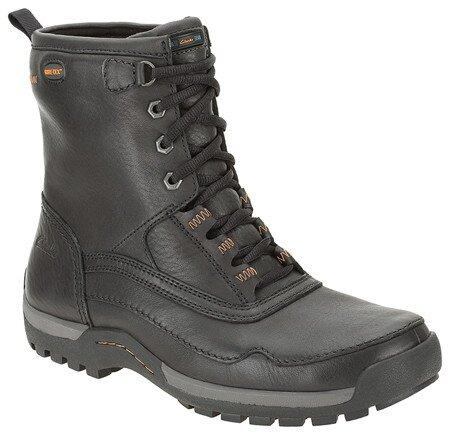 Pánske čierne vysoké kožené topánky Clarks s GTX membránou  addcf432710