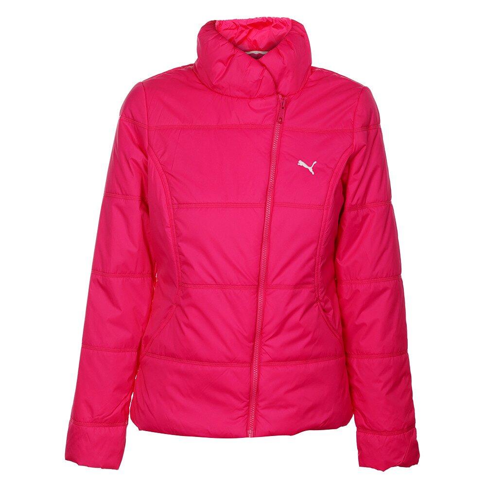 dc8ed7f0dba12 Dámska neónovo ružová zimná prešívaná bunda Puma so šikmým zipsom |  Zlavomat.sk