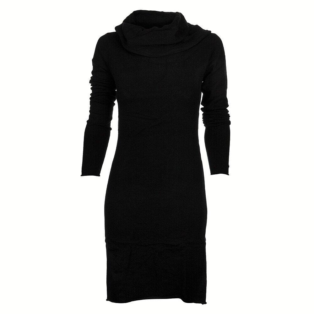 fba92a1f098 Dámske čierne pletené šaty Timeout s velkým límcom