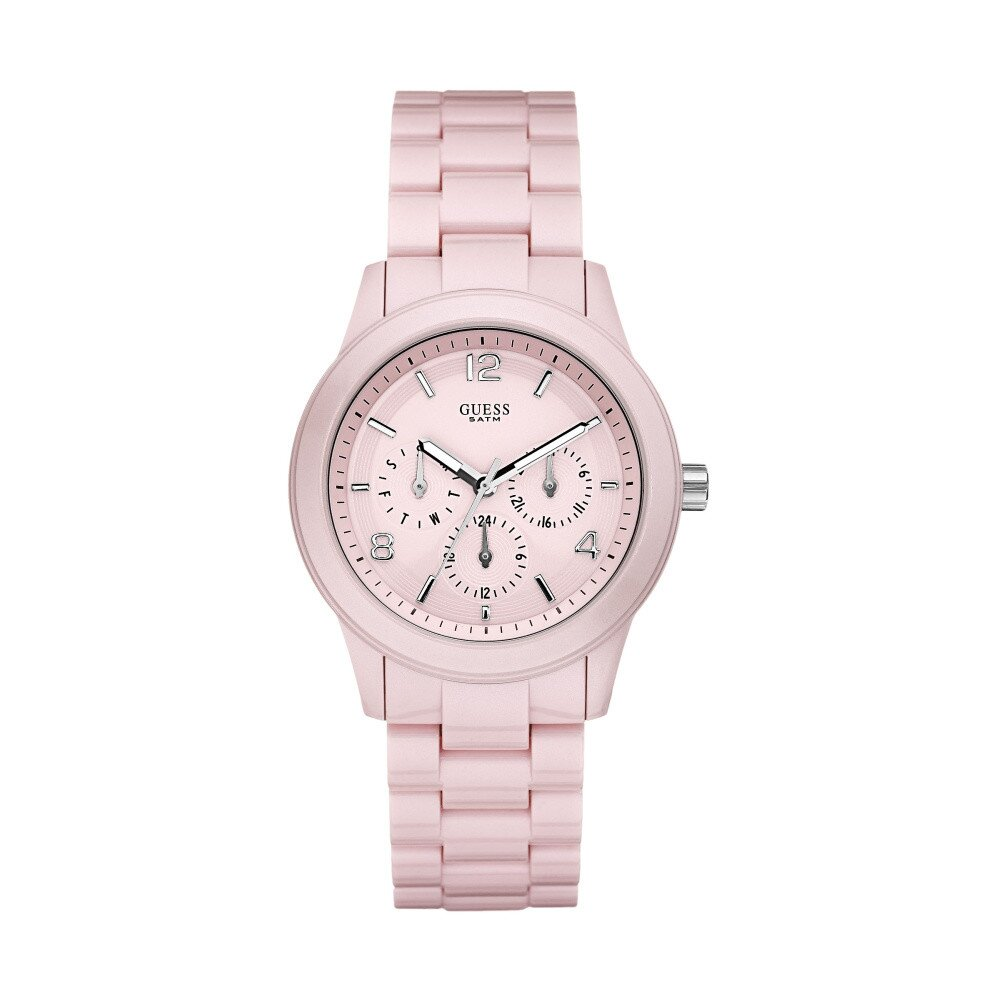 Dámske svetlo ružové náramkové hodinky Guess  2f2521e8aa4