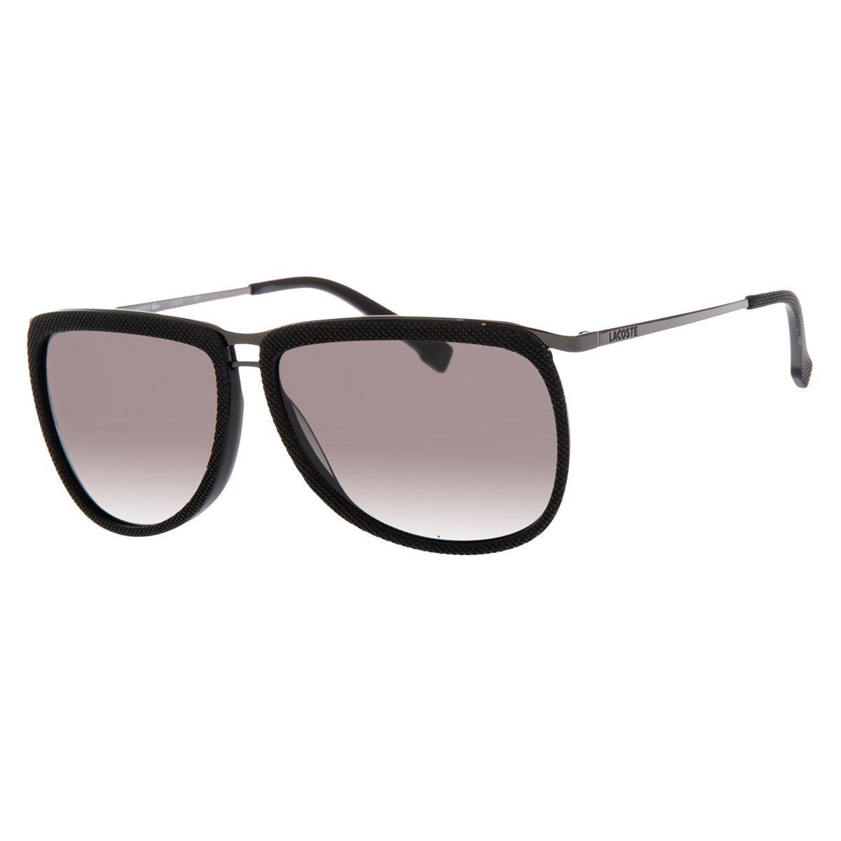 Dámske čierne slnečné okuliare Lacoste s kovovými detailami ... c2ab738ffaf