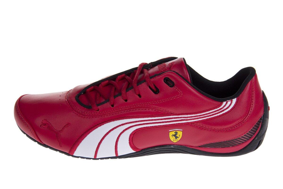 e9268fc9f87a Pánske červené tenisky Puma Ferrari s čiernymi a bielymi detailami