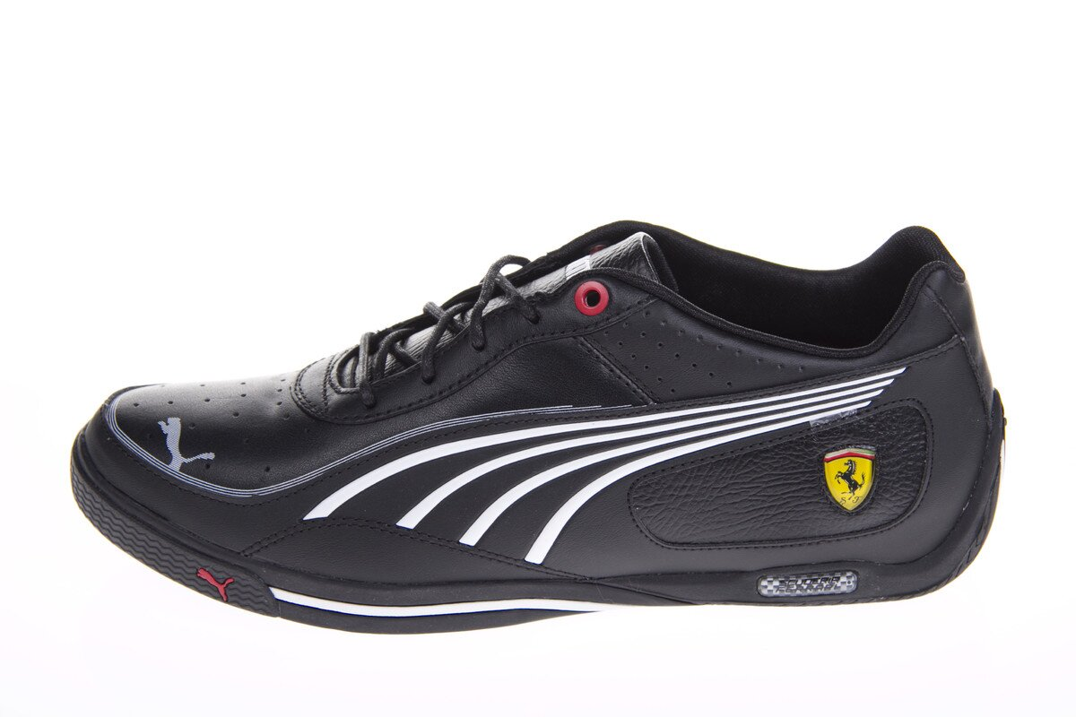 Pánske čierne tenisky Puma Ferrari s bielymi detailami  161e0670e2b