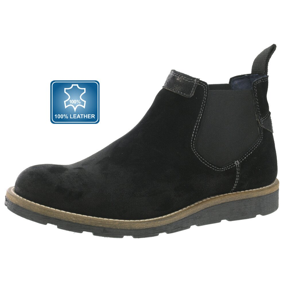 09c4cabb6ec8 Pánske členkové kožené topánky Beppi čierne