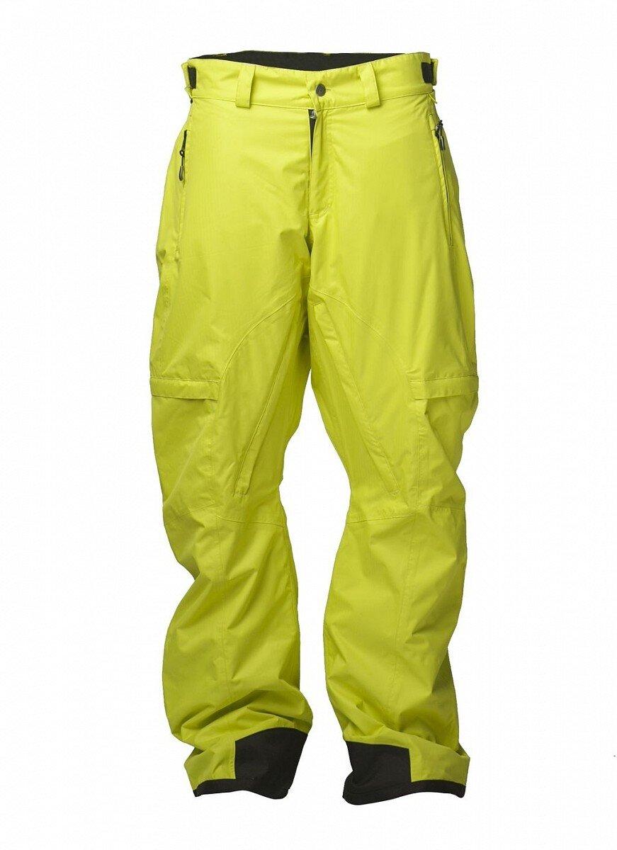 e1b49b9211ba Pánske citrónovo žlté snowboardové nohavice Fundango