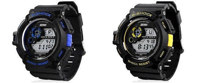 69f06d82ca1 Štýlové digitálne hodinky s LED podsvietením