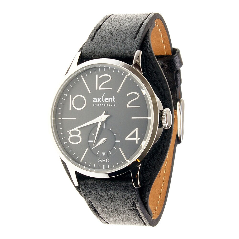 24b1e17a2d1 Dámske čierne náramkové hodinky Axcent