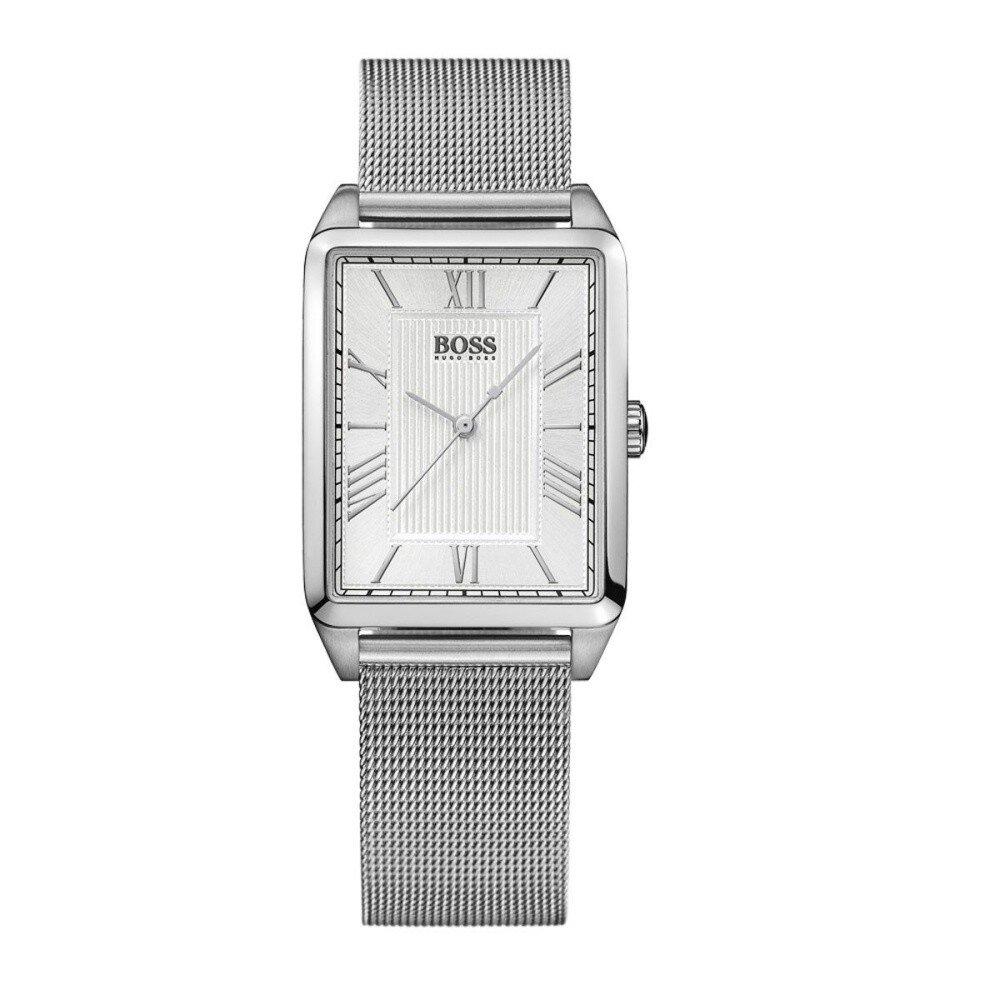 Dámske strieborné hranaté hodinky Hugo Boss Orange  4c0792e5875