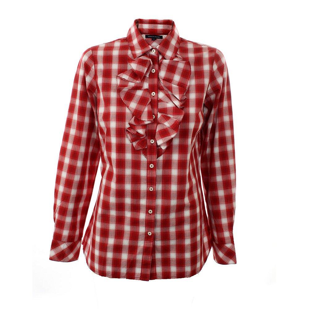 31ec5f2ab88a Dámska červeno-biela kockovaná košeľa so žabó Tommy Hilfiger ...