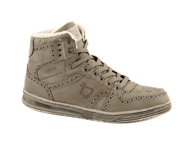 Pánske šedé kožené zimné topánky Dude  9cb90e561bb