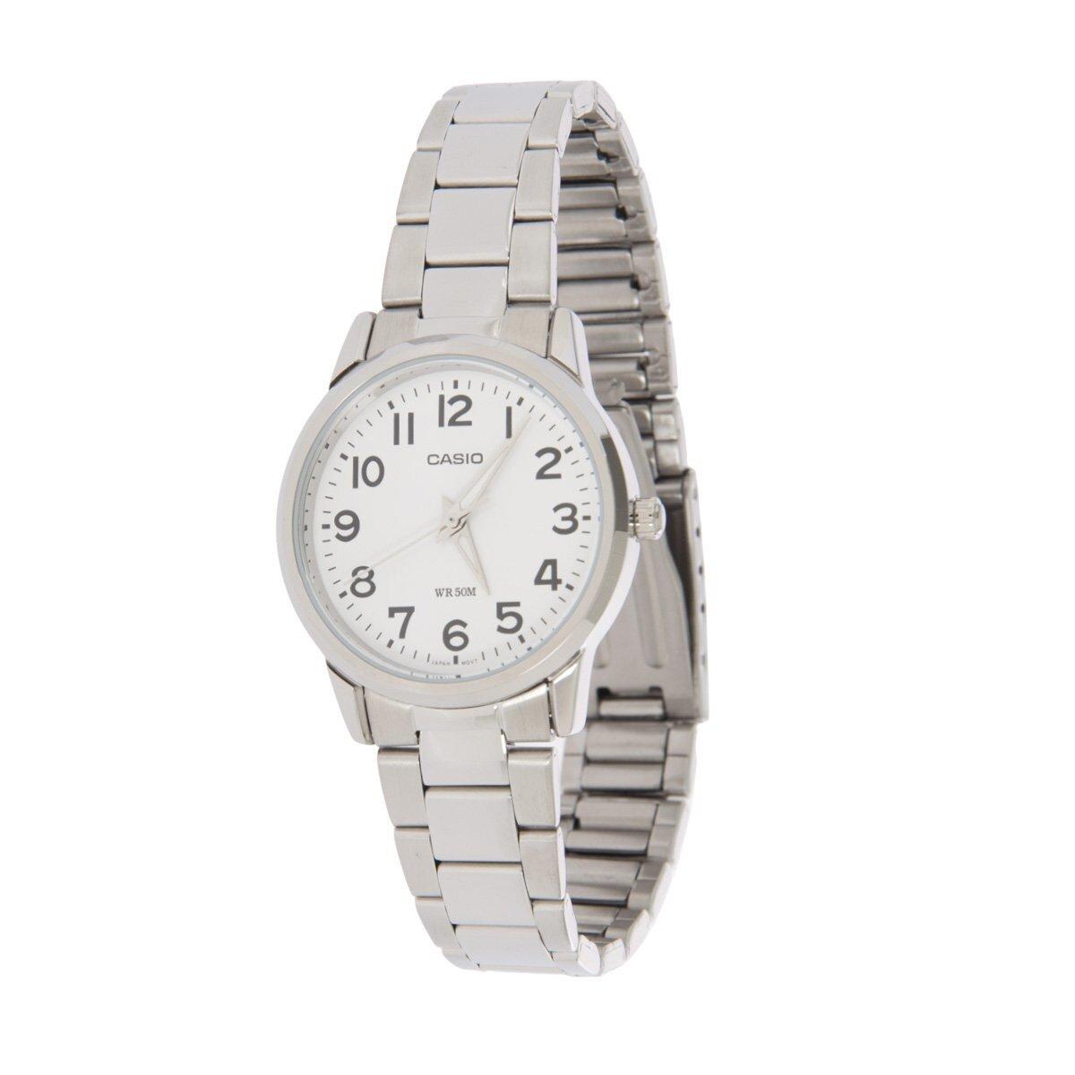 Dámske oceľové hodinky Casio s bielym ciferníkom  410b352cbf0