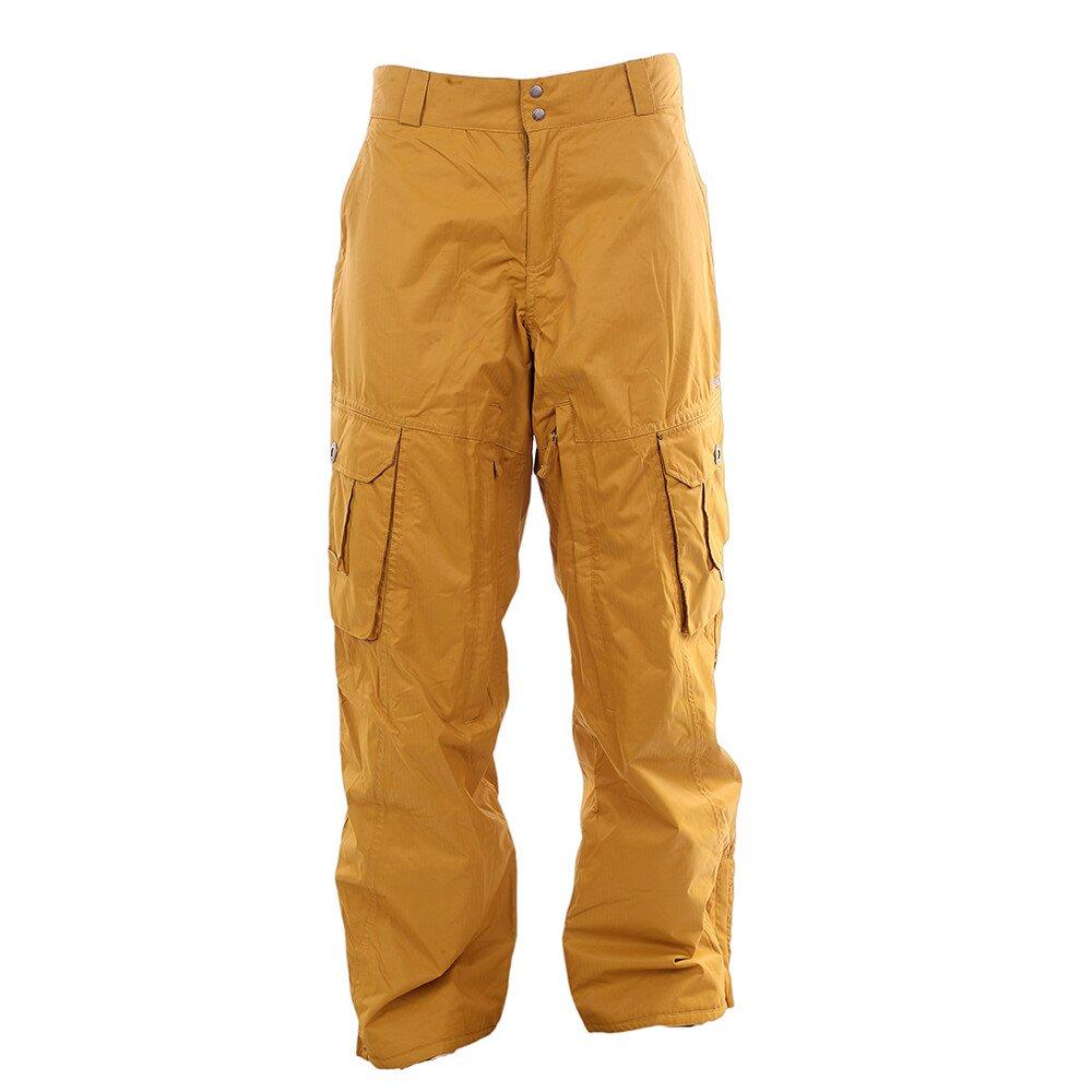 1f5f43407b0f Pánske žlté lyžiarske nohavice Fundango s membránou