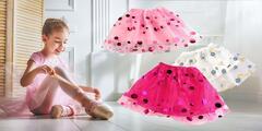Krásna dievčenská suknička s bodkami