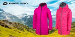 Zateplený dievčenský vodeodolný kabát