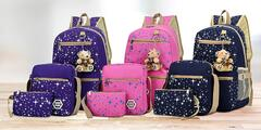 Set batohu, kabelky a puzdra, viac farieb