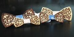 Trendy handmade drevené motýliky s manžetovými gombíkmi