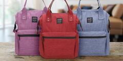 Praktický batoh pre mamičky s množstvom káps
