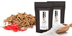 Chrumkavé červíky WormUp: soľ, cesnak alebo chilli
