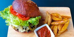 Vegánsky Burger s hranolkami - osobný odber alebo donáška