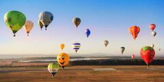 Svet ako na dlani počas letu balónom