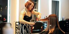 Dámsky strih, farbenie, balayage či laminácia poškodených vlasov