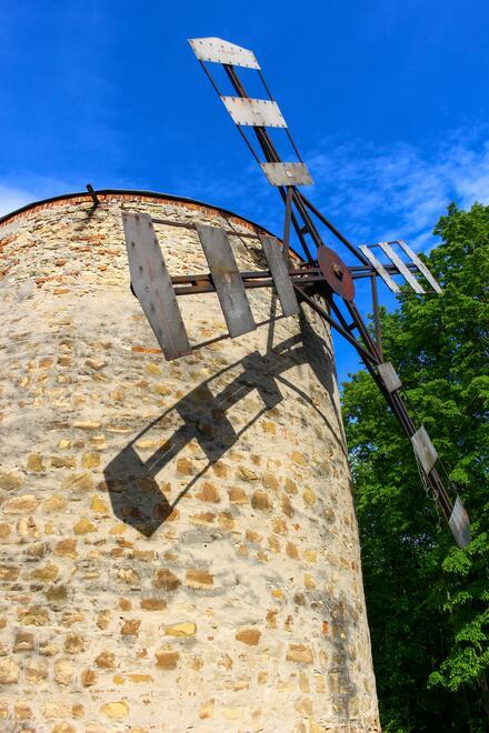 Veterný mlyn v Holíči je jediný zachovaný veterný mlyn na Slovensku.