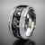 PRSTEŇ BLACK SILVER RING VINCITORE/15010BL | 16 | Čierna