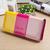 Lakovaná farebná peňaženka | Žltá / ružová / svetloružová