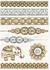 Dočasné metalické tetovanie | Vzor 001