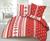 Bavlnené posteľné obliečky s vianočným vzorom (červené hviezdy a srdcia)