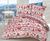 Bavlnené posteľné obliečky s vianočným vzorom (červená)