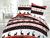 Bavlnené posteľné obliečky s vianočným vzorom (jeleň trikolóra)