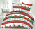 Bavlnené posteľné obliečky s vianočným vzorom (jeleň trikolóra, zelená)
