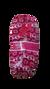 Dámske balerínkové papuče (zimný vzor) | 35-38 | Bordová