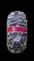 Dámske balerínkové papuče (zimný vzor) | 35-38 | Sivá
