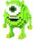 LOZ Logická skladačka Monster Mike