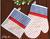 Set rukavica a chňapka Naty pravá | Modro - červená