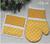 Set rukavica a chňapka Loli pravá | Žltá