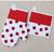 Set rukavica a chňapka Loli pravá | Bielo - červená