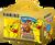 Darčekové balenie Haribo medvedíkov - 395 g + žltý hrnček