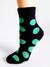 Detské Crazy Socks bláznivé ponožky | 33-36 | Bodky zelené