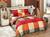 Saténové obliečky na dvojlôžko VANESSA YELLOW/RED
