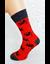 Bláznivé pánske ponožky Amor   40-43   Červená